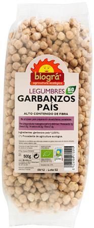 Garbanzos del país Biográ 500g.