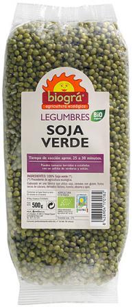 Soja verde Biográ 500g.