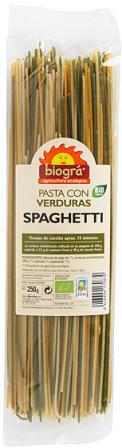 Espaguetis con verduras Biográ 250g.