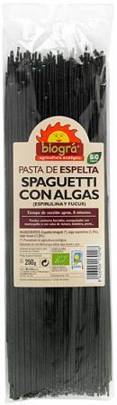 Espaguetis espelta con algas Biográ 250g.