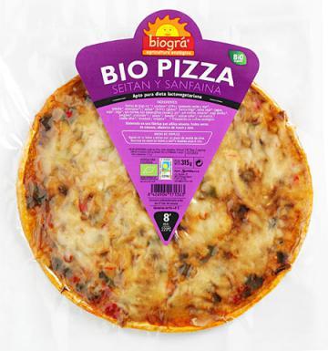 Pizza con seitán y sanfaina Biográ 315g.