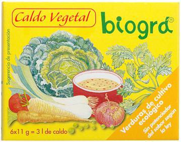 Caldo vegetal cubitos Biográ 60g.