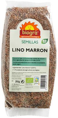Semillas de lino marrón Biográ 250g.