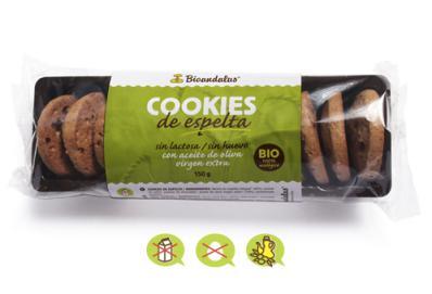 Cookies de espelta Bioandalus 150g.