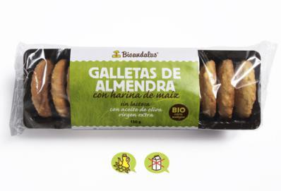 Galletas de maíz con almendra Bioandalus 150g.