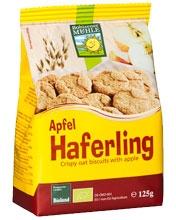 Haferling galleta crujiente de avena con manzana bio 125g.