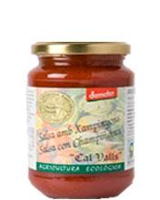 Salsa tomate champiñón Cal Valls 350g.