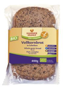 Pan integral de arroz sin gluten Hammer Muhle