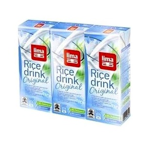 Bebida arroz original Lima 3 x 200ml.