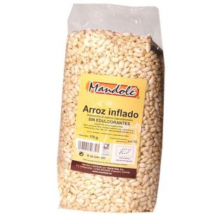 Arroz integral inflado sin edulcorantes Mandolé 175g.