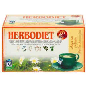 Alivia tus gases infusión 20 filtros Herbodiet