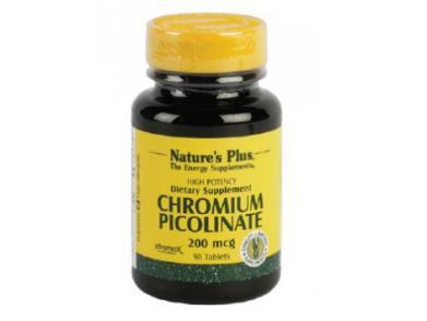 Picolinato de cromo Nature's Plus 200mcg 90 comprimidos