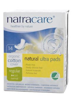 Compresa natural con alas Natracare 14 unidades