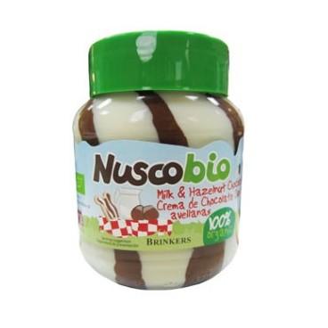 Crema chocolate duo con avellanas Nuscobio 400g.
