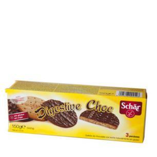 Digestive choc (fibra y chocolate) Schar 150g.