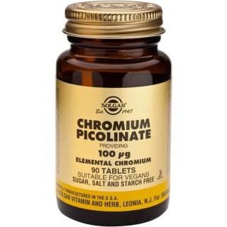 Picolinato de cromo Solgar 90 comprimidos