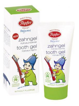 Gel dentífrico para dientes de leche con caléndula bio - sin flúor, 50ml.