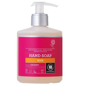 Jabón de manos de rosas orgánico con dispensador Urtekram 380ml.