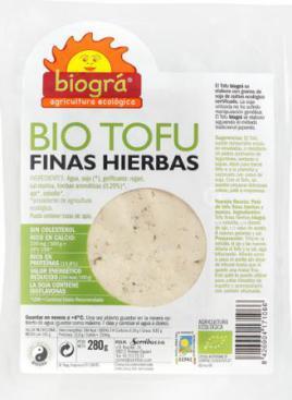 Tofu finas hierbas Biográ 290g.