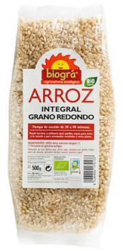Arroz integral grano redondo Biográ 500g.
