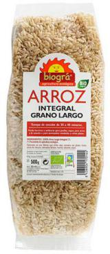 Arroz integral largo Biográ 500g.
