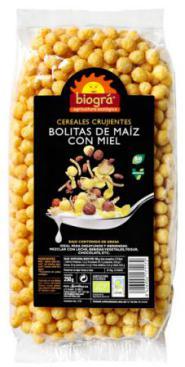 Bolitas de maíz con miel 250g.