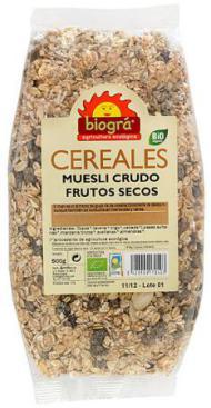 Muesli crudo - Frutos secos 500g.