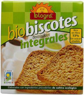 Biscotes integrales sin azúcar 270g.