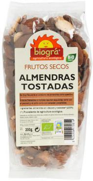 Almendras tostadas Biográ 200g.