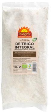 Harina de trigo integral (molino de piedra) 500g.