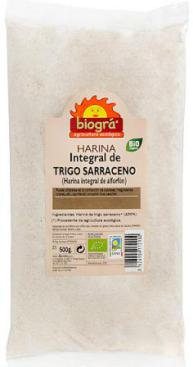 Harina de trigo sarraceno integral Biográ 500g.