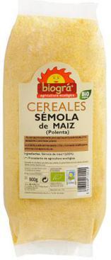 Sémola de maíz (polenta) Biográ 500g.