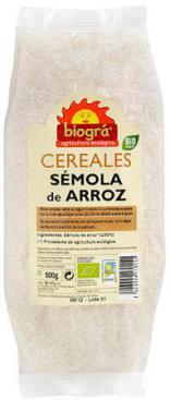 Sémola de arroz Biográ 500g.