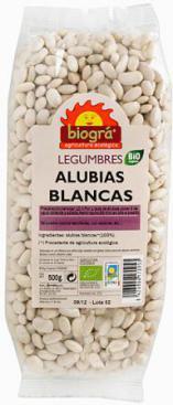 Alubias blancas Biográ 500g.