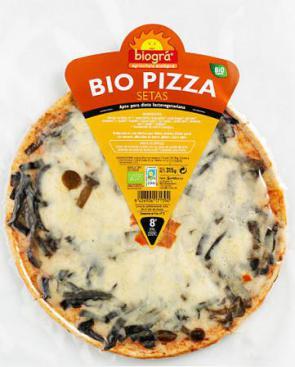 Pizza con setas Biográ 315g.