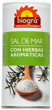 Sal de mar + hierbas aromáticas (salero) 225g.