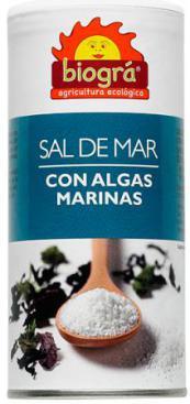 Sal de mar + algas marinas (salero) 225g.