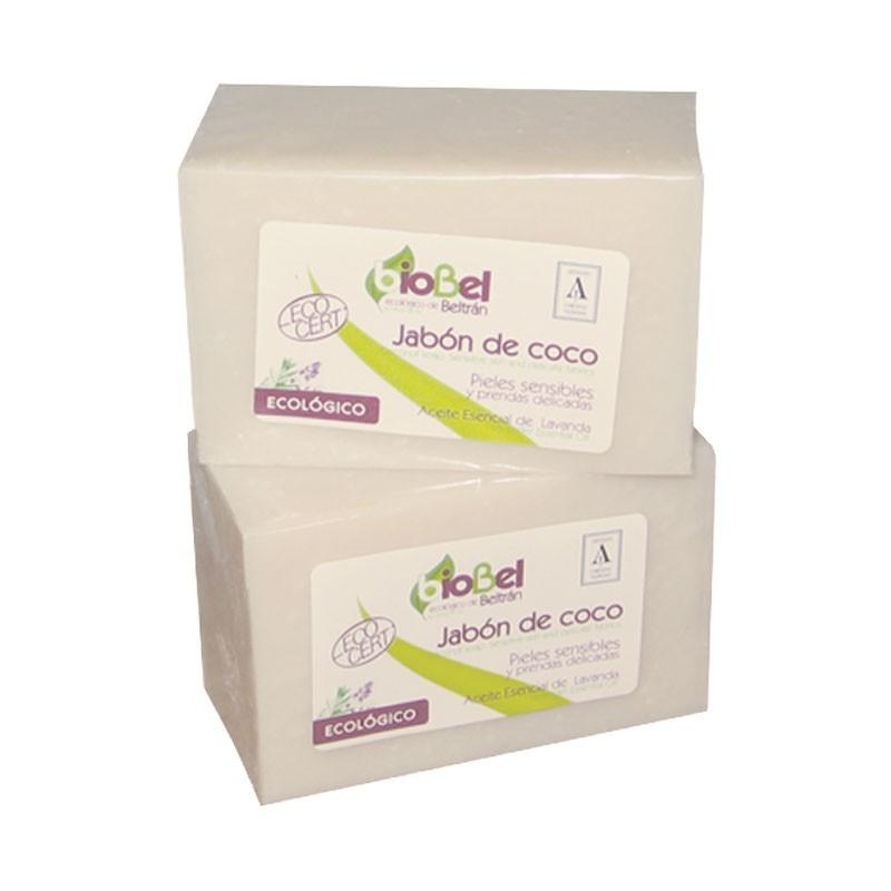 Jabón de coco en pastilla Biobel 240g.