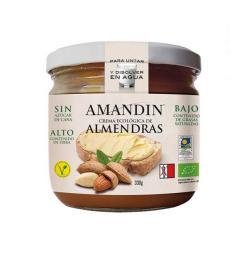 Crema de almendras con sirope de arroz Amandin 330g.