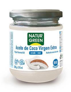 Aceite de coco virgen extra Naturgreen 215ml.