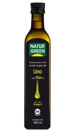 Aceite de lino Naturgreen 500ml.