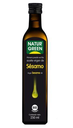 Aceite de sésamo ecológico Naturgreen 250ml.