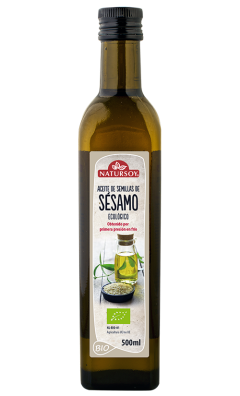 Aceite de sésamo bio Natursoy 500ml.