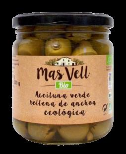 Aceituna Verde rellena de anchoa Mas Vell 350g.