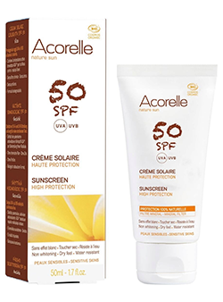Acorelle Protector solar facial rostro SPF50 50ml.
