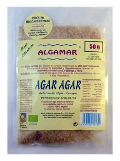 Alga Agar agar ecológica en copos Algamar 50g.