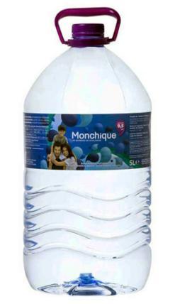 Agua mineral alcalina Monchique garrafa