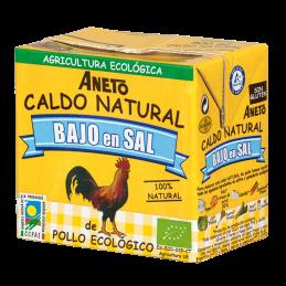 Caldo de pollo bajo en sal Aneto 500ml.