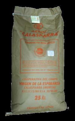 Arroz semi integral saco Calasparra 25 kilos