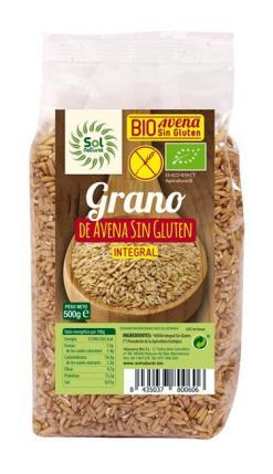 Avena en grano sin gluten Sol Natural 500g.